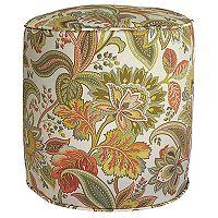 Metje Valbella Floral Indoor Outdoor Small Pouf