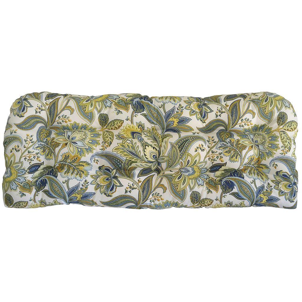 Metje Valbella Floral Indoor Outdoor Reversible Bench Cushion