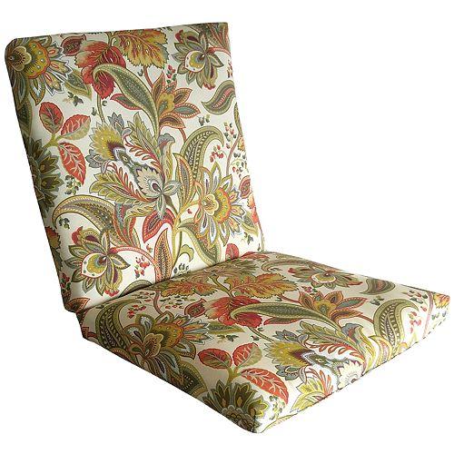 Metje Valbella Floral Indoor Outdoor Reversible Chair Cushion