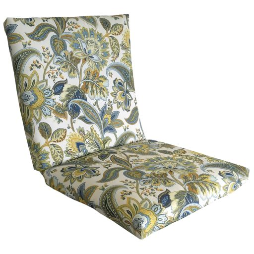 Metje Valbella Floral Indoor Outdoor Reversible Chair Cushion