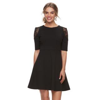 Petite Suite 7 Lace Fit & Flare Dress