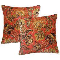 Metje Valbella Floral Indoor Outdoor 2-piece Reversible Throw Pillow Set