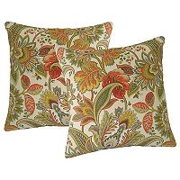 Metje Valbella Floral Indoor Outdoor 2-piece Reversible Throw Pillow Set