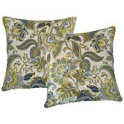 Metje Valbella Floral Indoor Outdoor 2 pc Reversible Throw Pillow Set