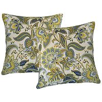 Metje Valbella Floral Indoor Outdoor 2 pc Reversible Throw Pillow Set