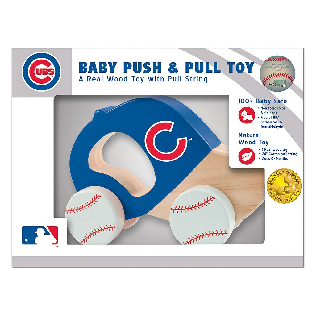 Chicago Cubs Baby Push & Pull Toy