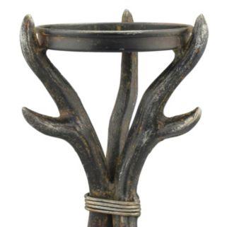 Stonebriar Collection Metal Antler Pillar Candle Holder