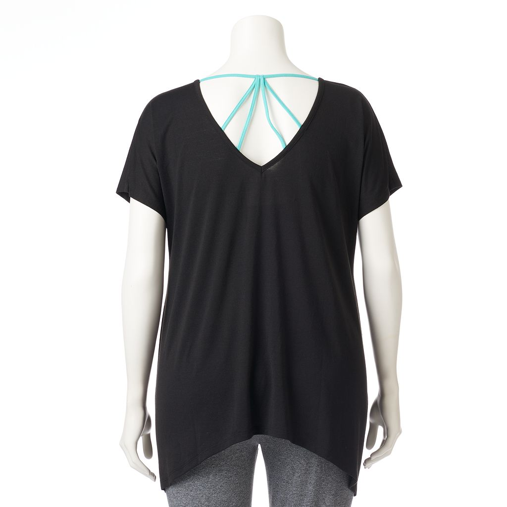 Plus Size Wild Majesty Strappy-Back Graphic Tee