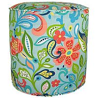 Metje Wildwood Floral Indoor Outdoor Small Pouf