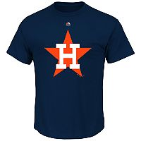 Men's Majestic Houston Astros Cooperstown Official Logo Tee