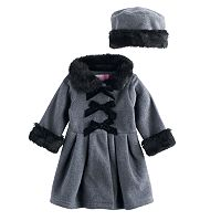 Toddler Girls Sophie Rose Microfleece Coat & Hat Set