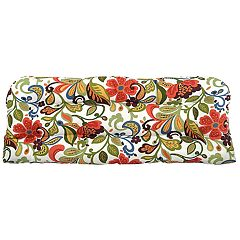 Metje Wildwood Floral Indoor Outdoor Reversible Bench Cushion