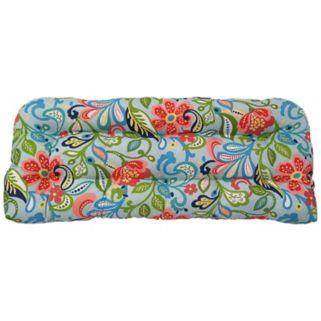 Metje Wildwood Floral Indoor Outdoor Reversible Bench Cushion
