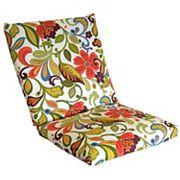 Metje Wildwood Floral Indoor Outdoor Reversible Chair Cushion
