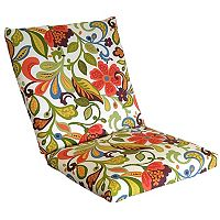 Metje Wildwood Floral Indoor Outdoor Reversible Chair Cushion