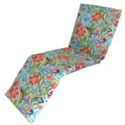 Metje Wildwood Floral Indoor Outdoor Reversible Chaise Lounge Cushion