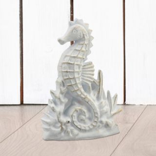 Stonebriar Collection Cast Iron Seahorse Table Decor