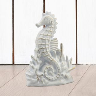 Stonebriar Collection Cast Iron Seahorse Table Decor