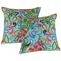 Metje Wildwood Floral Indoor Outdoor 2 pc Reversible Throw Pillow Set