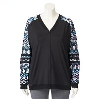 Plus Size Wild Majesty Varsity Bomber Jacket