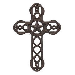 Stonebriar Collection Cast Iron Cross Wall Decor
