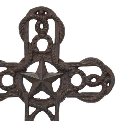 Stonebriar Collection Cast Iron Cross Wall Decor
