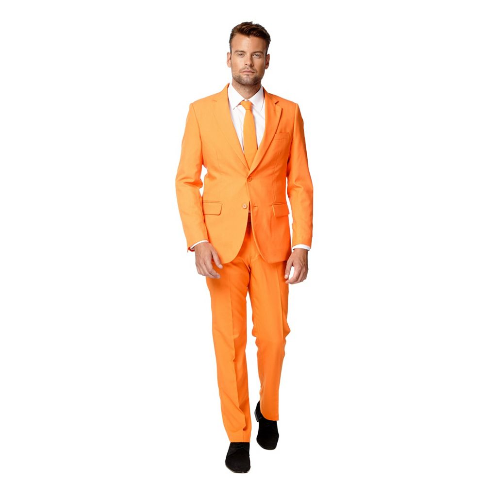 Men's OppoSuits Slim-Fit The Orange Suit & Tie Set