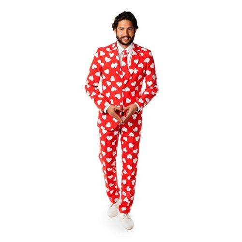 Men's OppoSuits Slim-Fit Mr. Lover Lover Suit & Tie Set