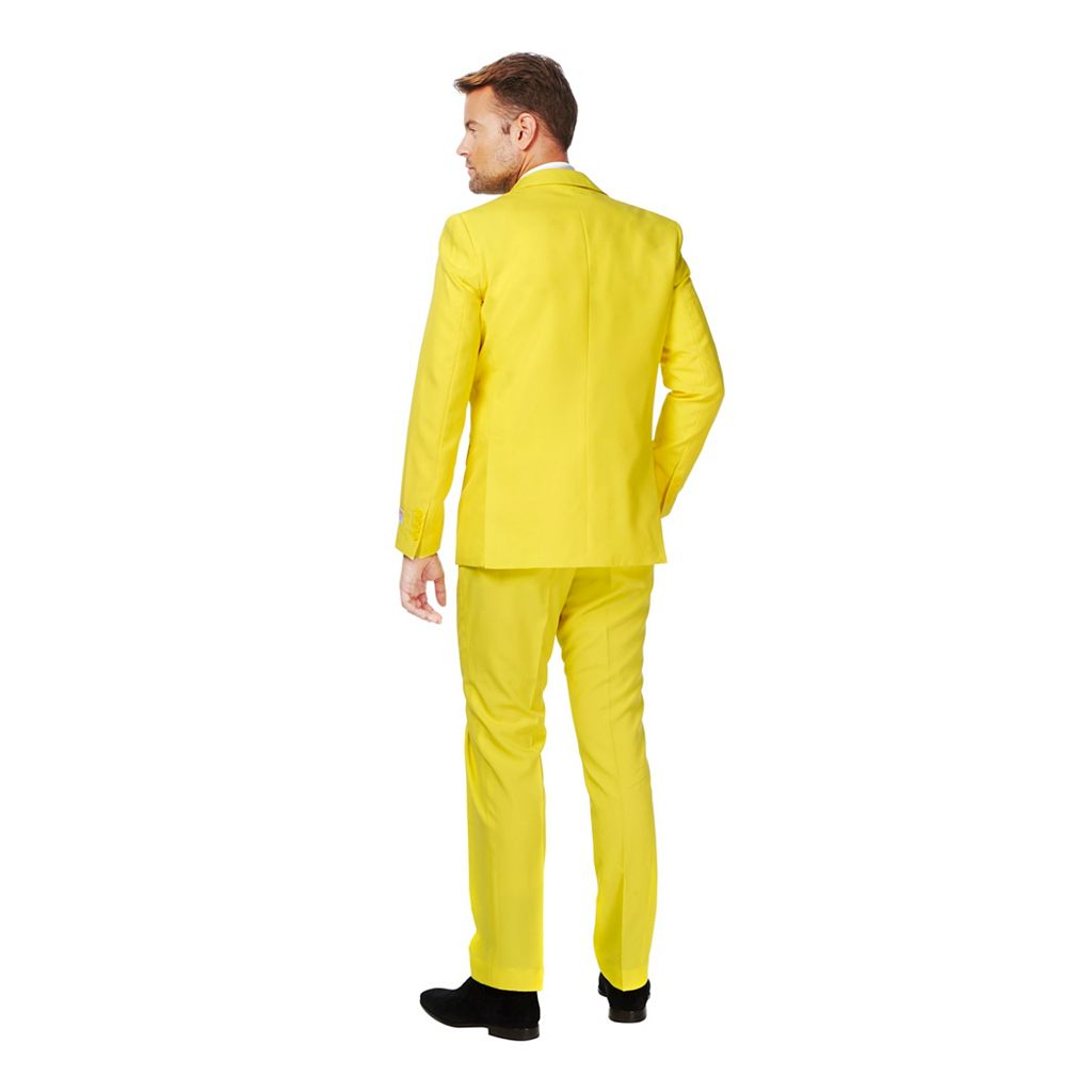 Men's OppoSuits Slim-Fit Yellow Fellow Suit & Tie Set