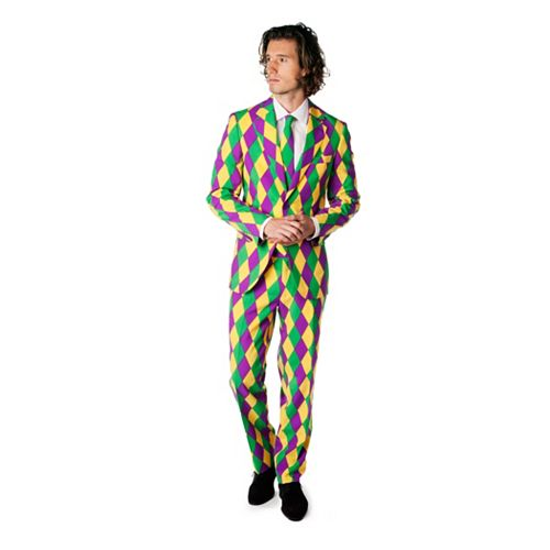Men's OppoSuits Slim-Fit Harleking Suit & Tie Set