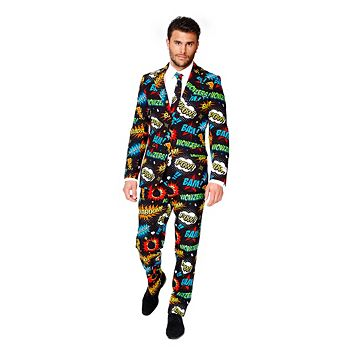 Men's OppoSuits Slim-Fit Badaboom Suit & Tie Set
