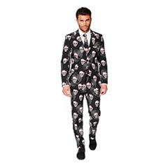 Men's OppoSuits Slim-Fit Skulleton Suit & Tie Set