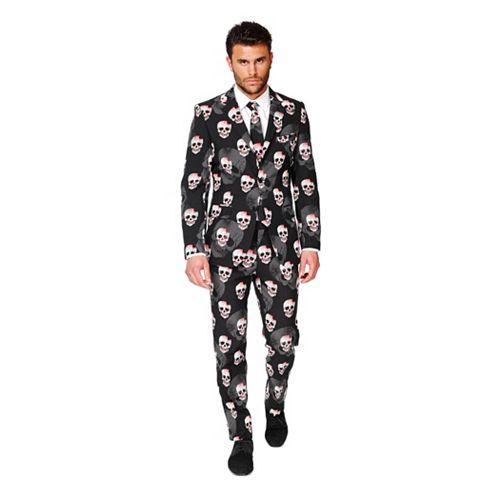 Men's OppoSuits Slim-Fit Skulleton Suit & Tie Set