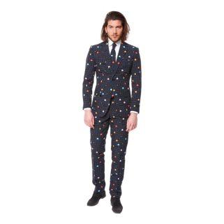 Men's OppoSuits Slim-Fit Pac-Man Suit & Tie Set