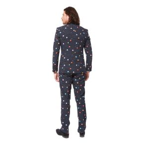 Men's OppoSuits Slim-Fit Pac-Man Suit & Tie Set
