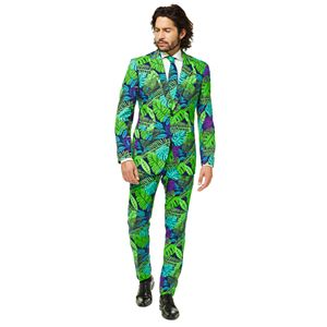 Men's OppoSuits Slim-Fit Novelty Pattern Suit & Tie Set