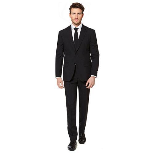 Men's OppoSuits Slim-Fit Black Knight Suit & Tie Set