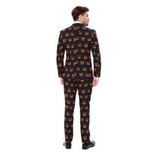 Men's OppoSuits Slim-Fit Black-O Jack-O Suit & Tie Set