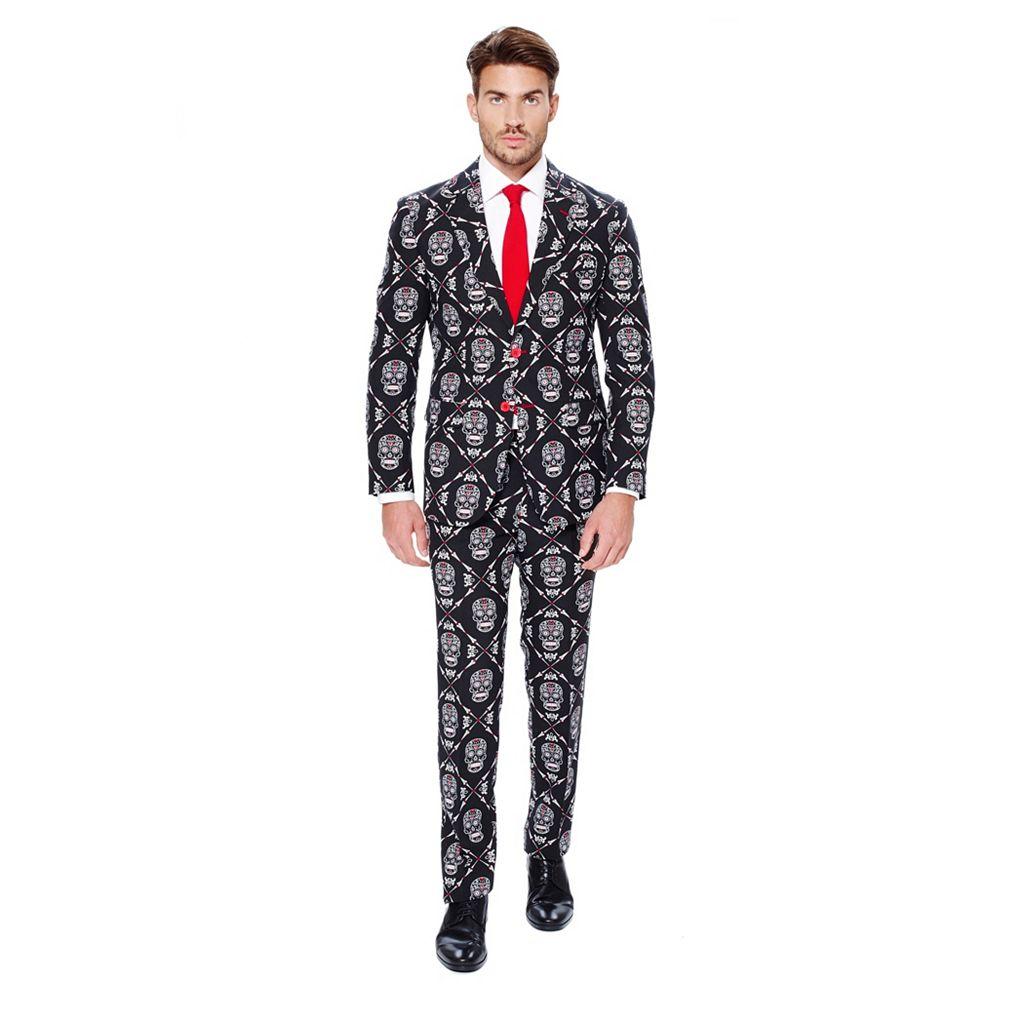 Men's OppoSuits Slim-Fit Haunting Hombre Suit & Tie Set
