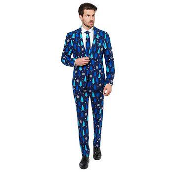 Men's OppoSuits Slim-Fit Winter Woods Suit & Tie Set