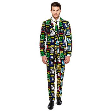 Men's OppoSuits Slim-Fit Star Wars Strong Force Suit & Tie Set