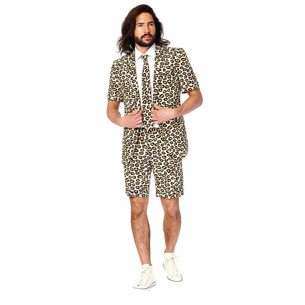 Men's OppoSuits Slim-Fit Jaguar Suit & Tie Set