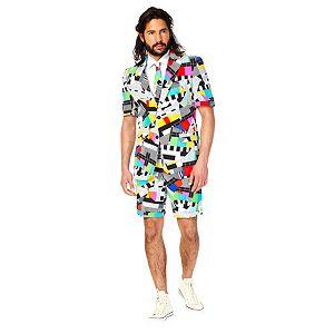Men's OppoSuits Slim-Fit Testival Suit & Tie Set