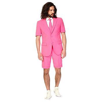 Men's OppoSuits Slim-Fit Mr. Pink Suit & Tie Set
