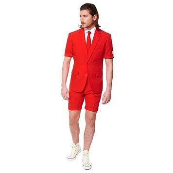 Men's OppoSuits Slim-Fit Red Devil Suit & Tie Set