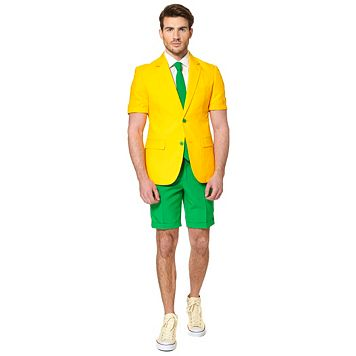 Men's OppoSuits Slim-Fit Green and Gold Suit & Tie Set