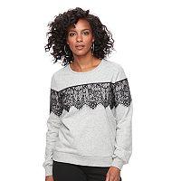 Women's Apt. 9® Lace Crewneck Sweatshirt