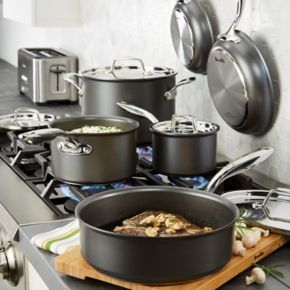 Breville Thermal Pro 10-pc. Hard-Anodized Nonstick Cookware Set