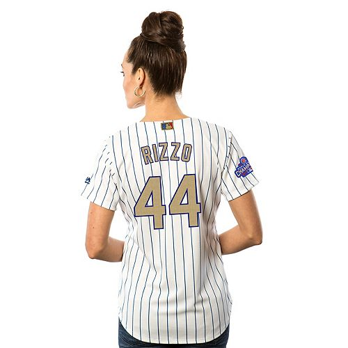 the latest c95a5 0eadd Women's Majestic Chicago Cubs Anthony Rizzo 2016 World ...