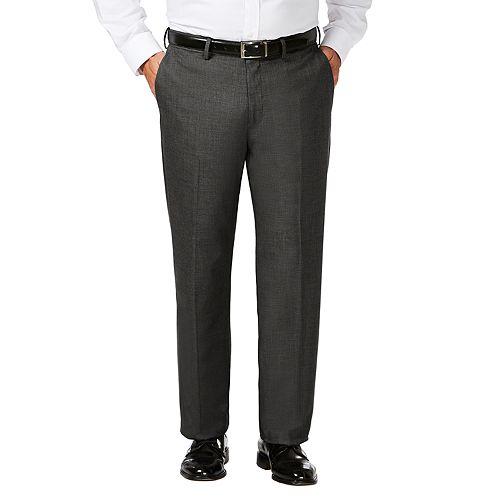 Big & Tall J.M. Haggar Premium Classic-Fit Stretch Sharkskin Flat-Front Dress Pants